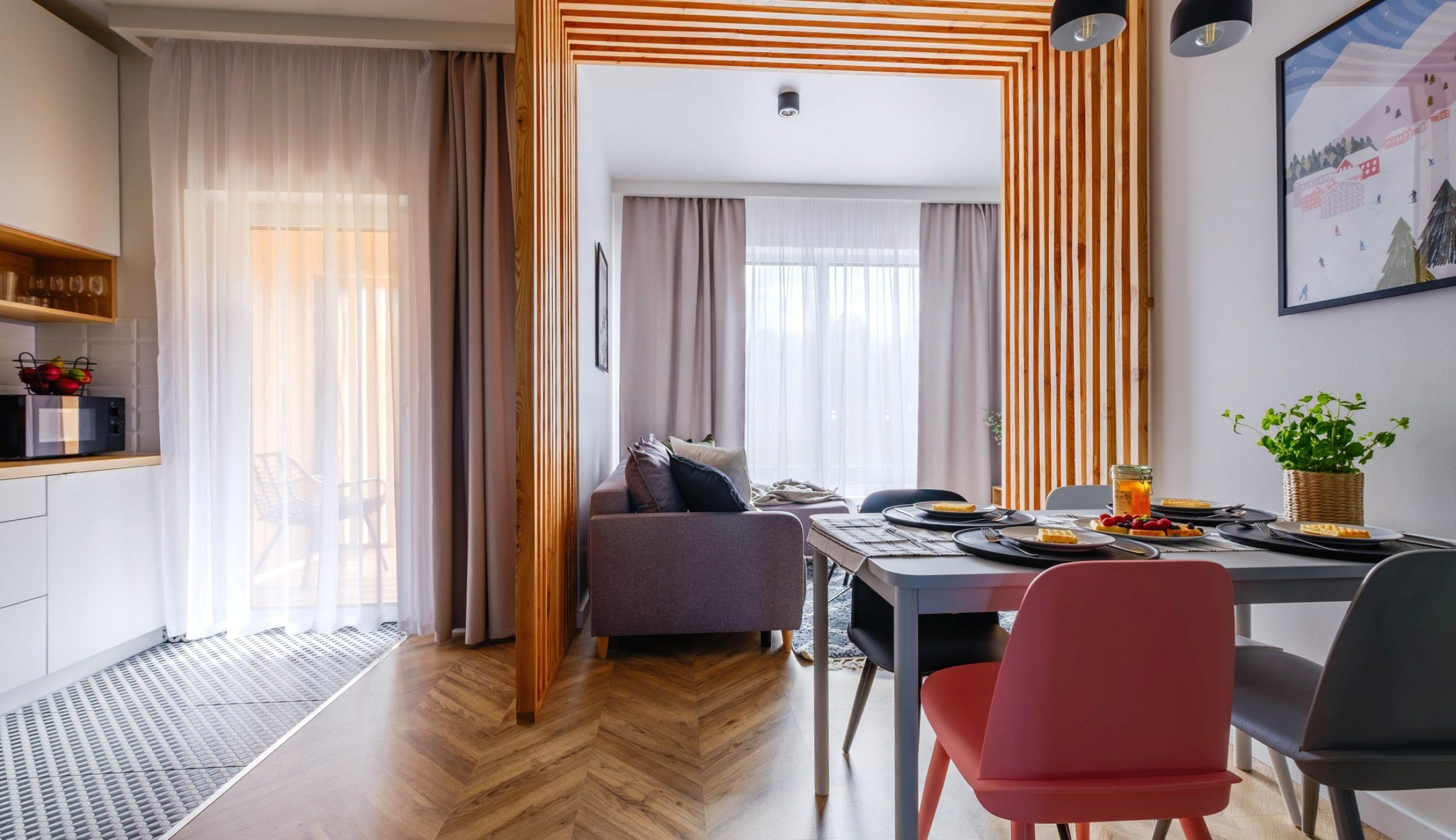 Apartamenty NOVA BIAŁKA Białka Tatrzańska apartament 5 salon i kuchnia