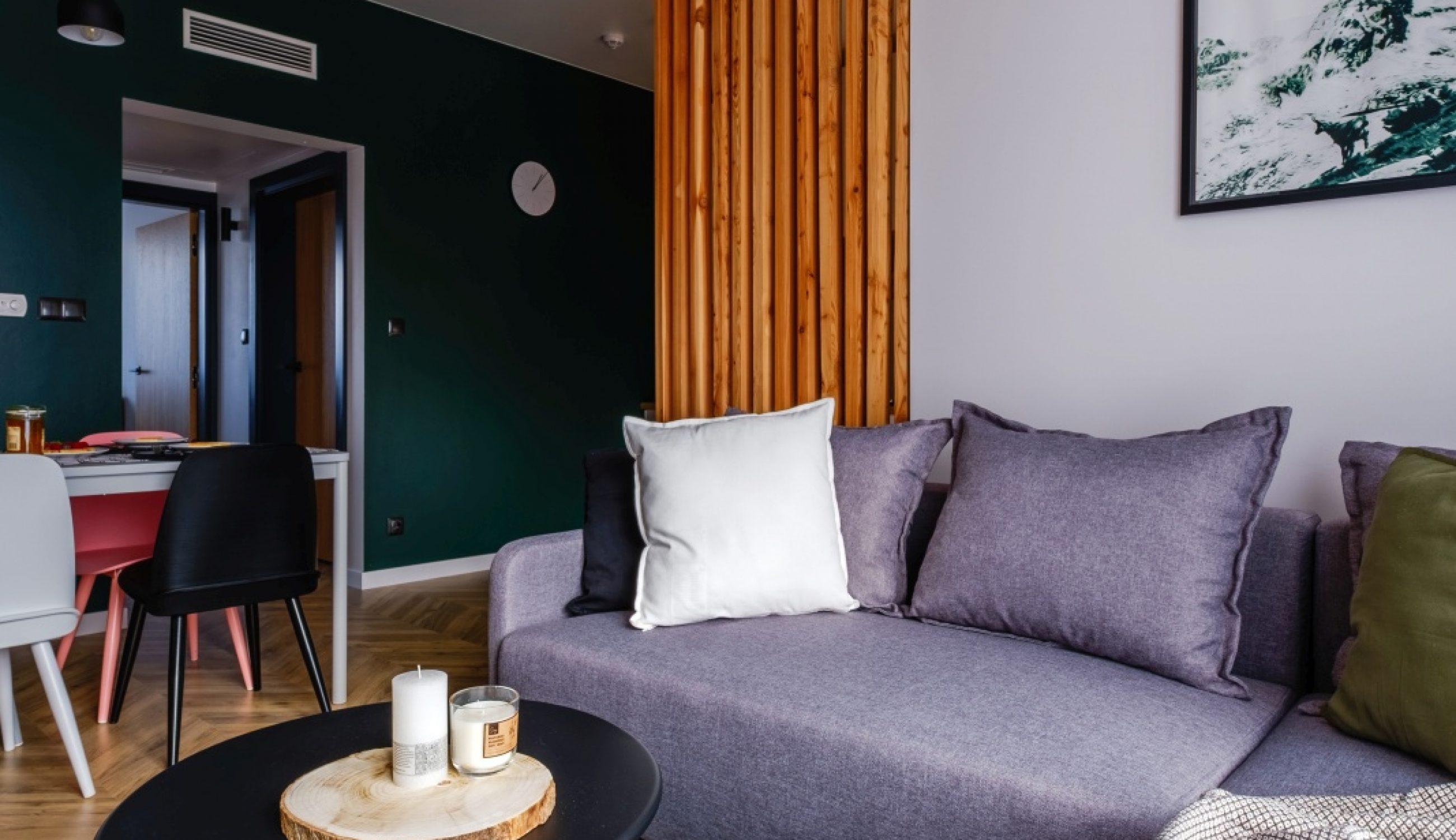 Apartamenty NOVA BIAŁKA Białka Tatrzańska apartament 5 salon sofa