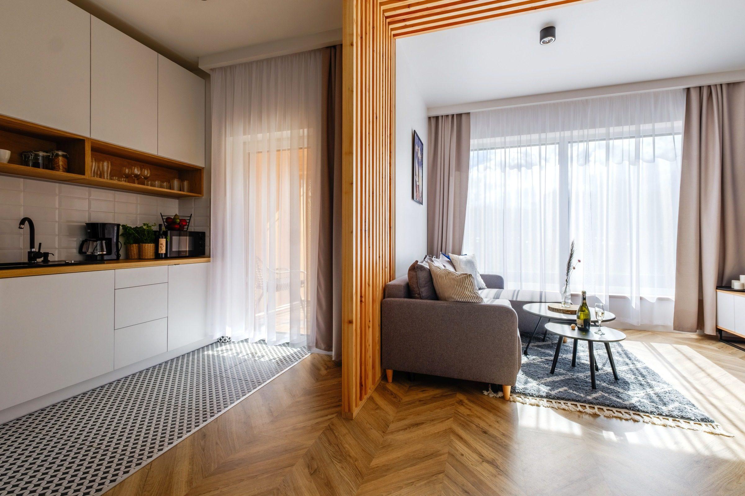 Apartamenty NOVA BIAŁKA Białka Tatrzańska apartament 6 kuchnia i salon