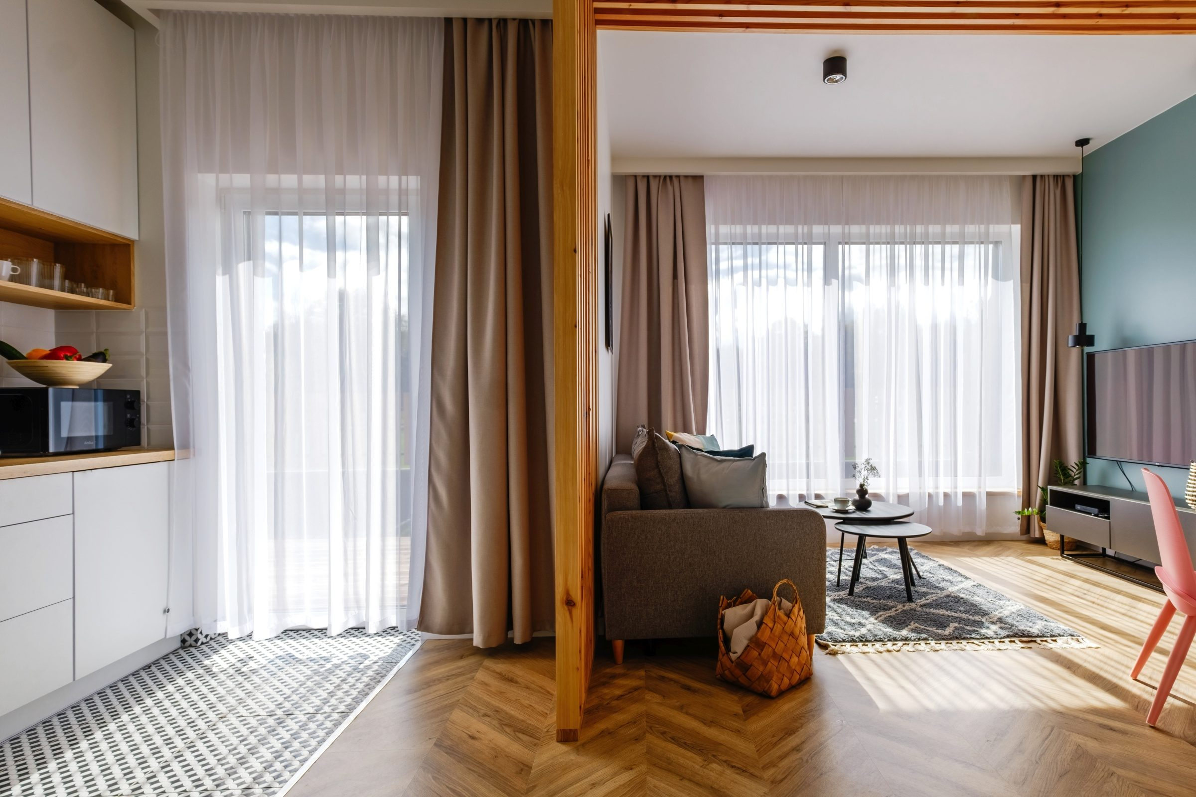 Apartamenty NOVA BIAŁKA Białka Tatrzańska apartament 7 kuchnia i salon